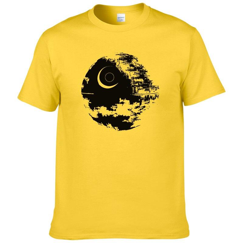 2019 Fashion Design Death Star T Shirt Men's Star Wars t shirt Summer short sleeves cotton Cool Tees Euro Size PC