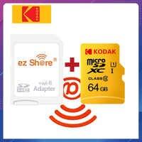 Ezshare adaptador wifi inalámbrico + Kodak tarjeta Micro SD de 16gb 32gb class10 microsd wifi inalámbrico TF tarjeta 64gb tarjeta de memoria de 128GB