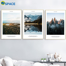 Beach Mountain Forest Seascape Wall Art Canvas Painting Nordic Posters And Prints Landscape Pictures For Living Room Decor