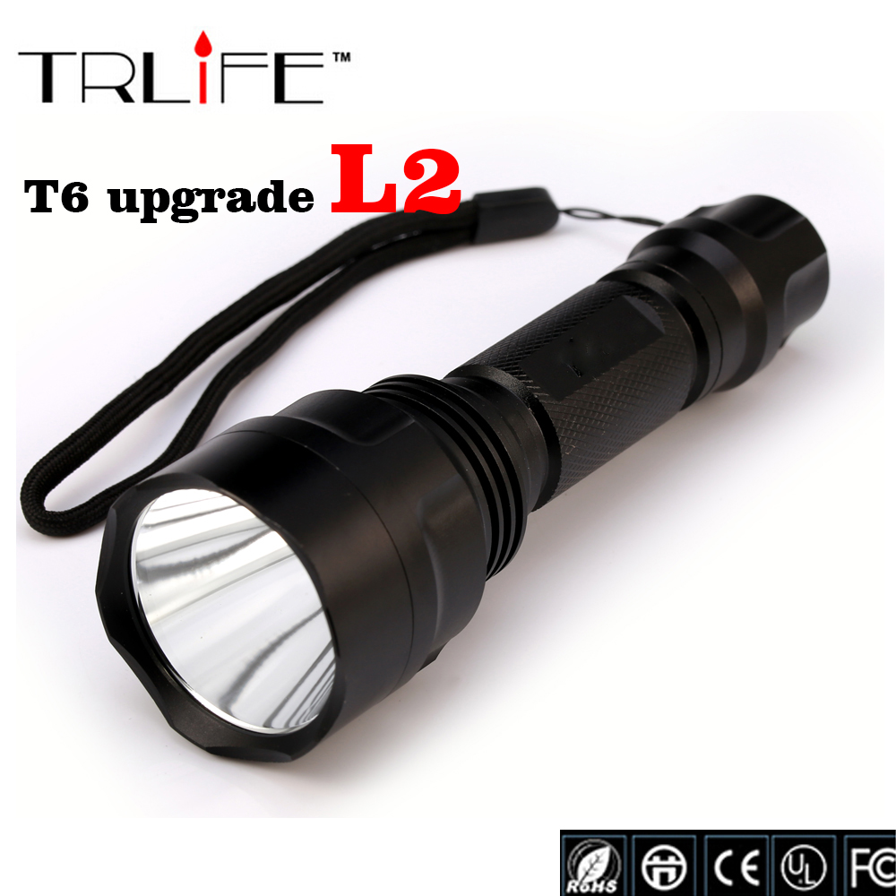 High Quality Lantern C8 CREE Led Flashlight 6000 Lumens lanterna Led CREE XM L2 Torch Light