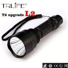 High Quality Lantern C8 CREE Led Flashlight 6000 Lumens lanterna Led CREE XM L2 Torch Light