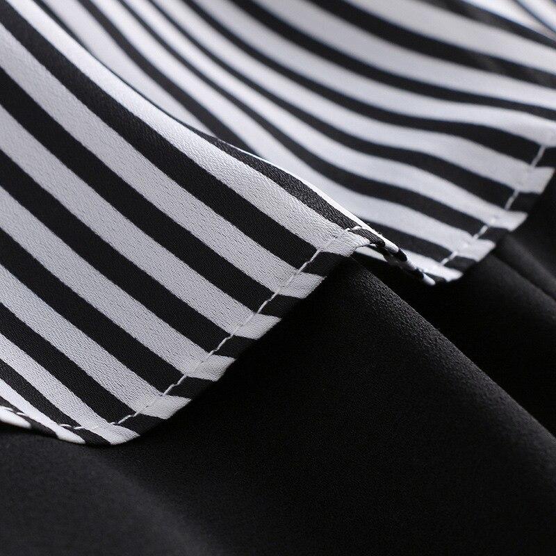 Longues up Office De Dentelle Dames Combinaisons Patchwork Salopette Arc Nouvelle Black Printemps Mode Rayé 2019 Irrégulière Lady Femmes Manches SRWPwpxHq