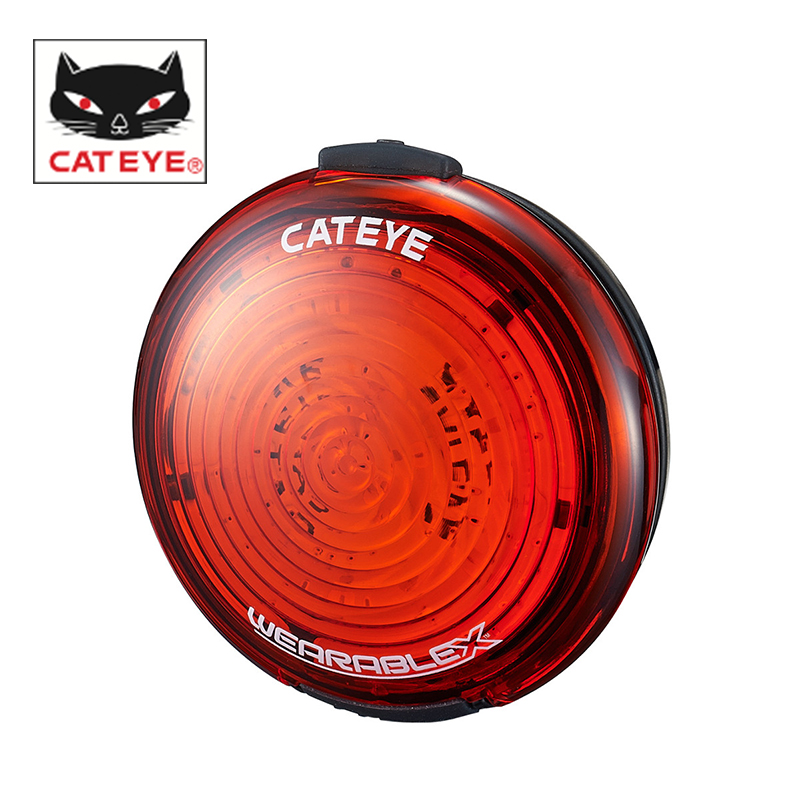 все цены на CATEYE Bike USB Rechargeable Taillight Wearable Bicycle Safety Rear Light Seatpost Waterproof Warning Lights Wearable X SL-WA100