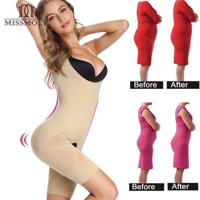 Bodysuit Shapewear Women Body Shaper Waist Trainer Stomach Slimming Underwear Faja Belt Mujer Leg Tummy Control Shaper Trimmer