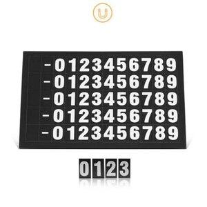 Image 2 - Productos interiores del coche pegatina de coche señal de parada temporal teléfono móvil número placa luminosa creativa