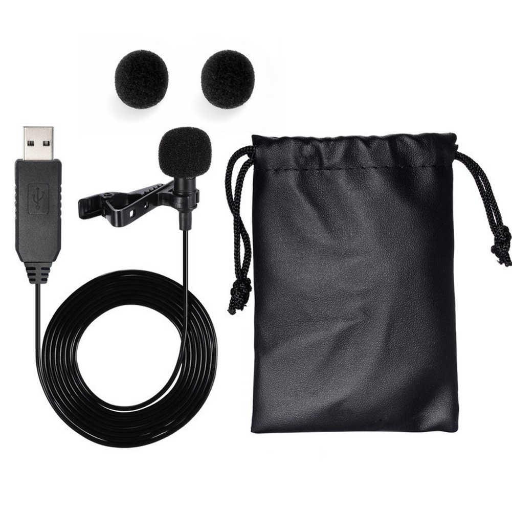Skype легкий ноутбук прочный Запись видео петличный микрофон Clip-on портативный мини USB