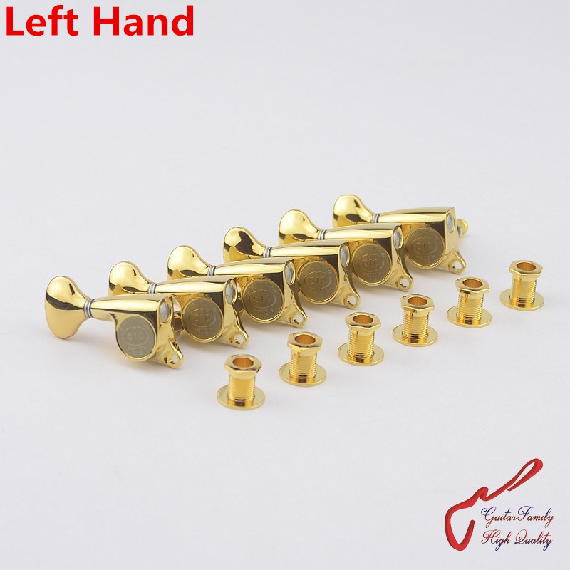 1 Set  Original Genuine 6 In-line GOTOH SGS510Z-S5 Left Hand Guitar Machine Heads Tuners  ( Gold ) MADE IN JAPAN savarez 510 cantiga series alliance cantiga normal high tension classical guitar strings full set 510arj