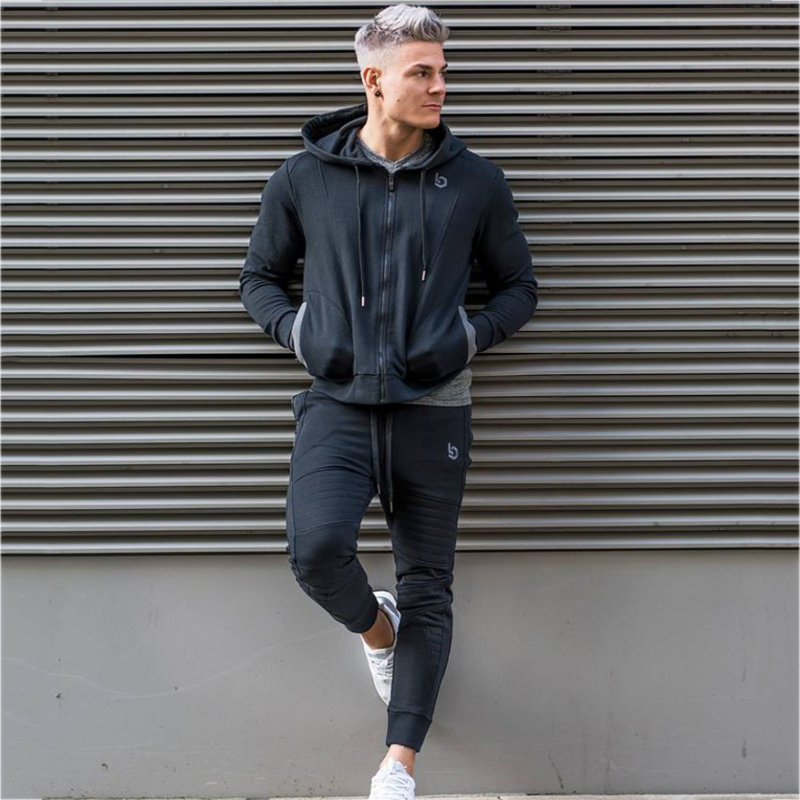 Sport Suit Men Jogging Running Gym Clothing Sweatshirt Male Fitness Bodybuilding Sportswear Mens Hoodied+Pants Jogger Top Sports 1
