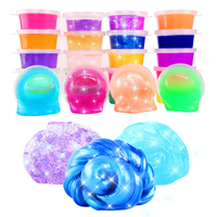 24pcs Set Colorful Crystal Slime Anti Stress Mud Non Magnetic DIY Environmenta Plasticine Bouncing Silt Sand