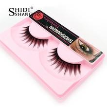 1 Pair Women Party Basic Thick Emulate Eyelashes False With Easy to Shaping Popular Thick Full Professional Eyelashes Fake