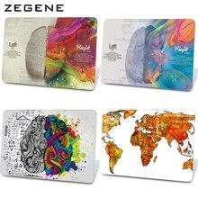 Retro Linke und Rechte Gehirn Muster Hard Cover Air 11/13 Print Laptop tasche für apple macbook pro 13 15 zoll retina 12 13 15