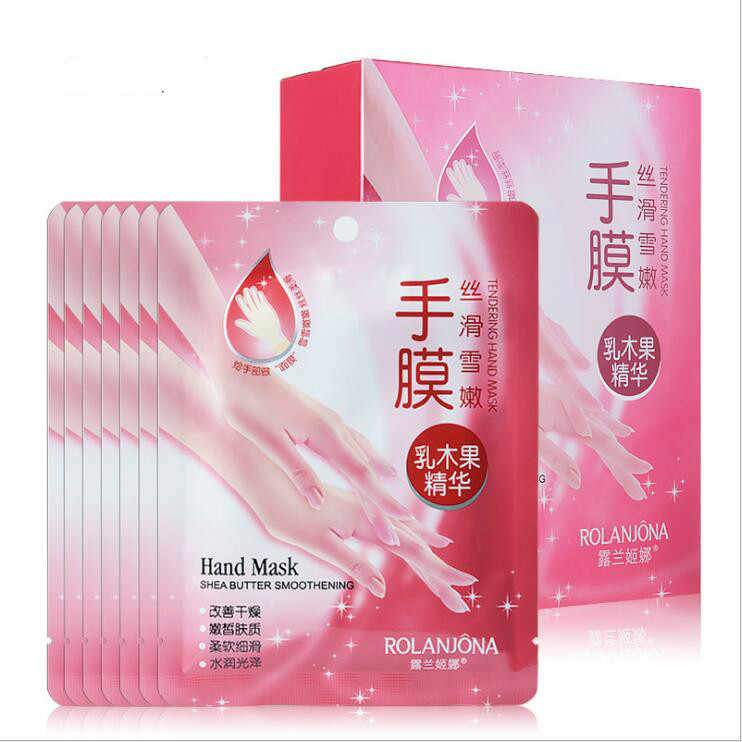 2pcs Shea Moisturizing Hand Mask Super Smoothing Whitening Gloves Anti-Aging Nourishing Masks for Hand Skin Care Peeling