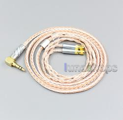 LN006403 3.5mm 2.5mm 4.4mm Balanced 16 Core OCC Silver Mixed Earphone Cable For HiFiMan HE400 HE5 HE6 HE300 HE560 HE4 HE500 HE6