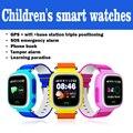 Das crianças relógios inteligentes F523 compatível com IOS e Android Suporte do cartão SIM pode ser inserido para o posicionamento GPS sos emergência