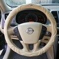 Автомобиля натуральная кожа крышки рулевого колеса для BLUEBIRD СОЛНЕЧНЫЙ Pathfinder PICKUP TEANA TIIDA Sylphy Geniss cefiro X-TRAIL CC Nissan