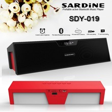 Sardine SDY-019 Bluetooth Hifi Speaker Wireless Stereo Subwoofers 10W Sound Bar Supports TF USB MP3 Music Player FM Aux for PC