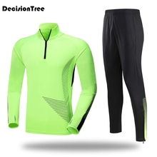 2019 running set 2 pcs men long sets women basketball jogging fitness training suit tracksuit gym