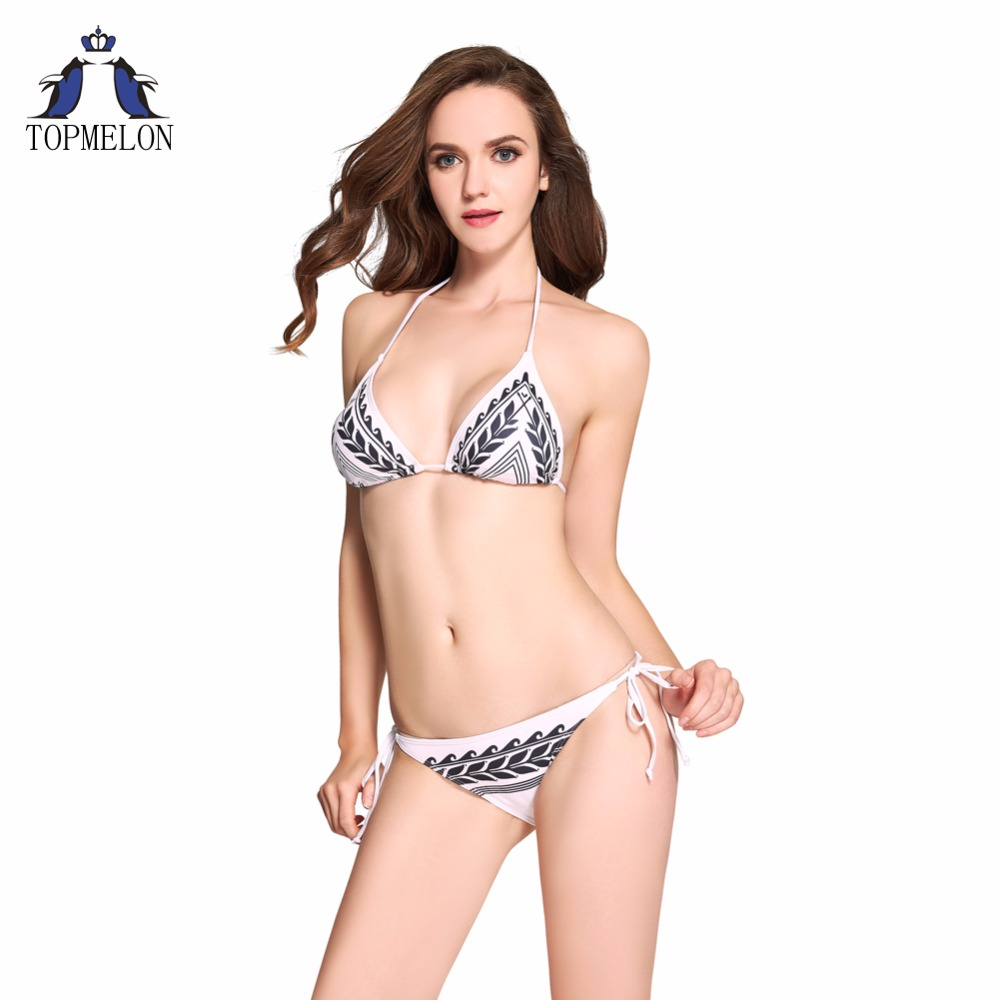 brazilian bikini  Swimwear swimsuit  Women  Bikini Set Swimsuit Halter Beach Biquini Bathing suit female bikini swimming suit hwsexy women s back tie mesh bikini set swimwear bra bottom beach swimsuit moda praia feminina brazilian biquini new brand