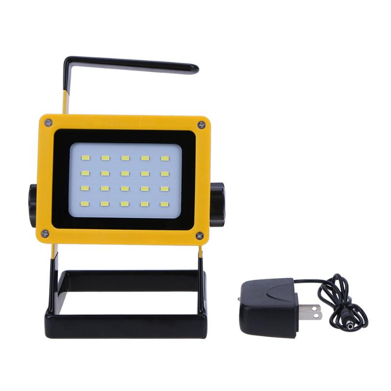 Portable and Light Emergency Rechargeable 20LED Floodlight Searchlight Projection Lamp 3x18650 Rechargeable Battery +Charger new 6 18650 battery new powerful lights rechargeable led floodlight 100leds 2400lumen 100w flood lamp portable light