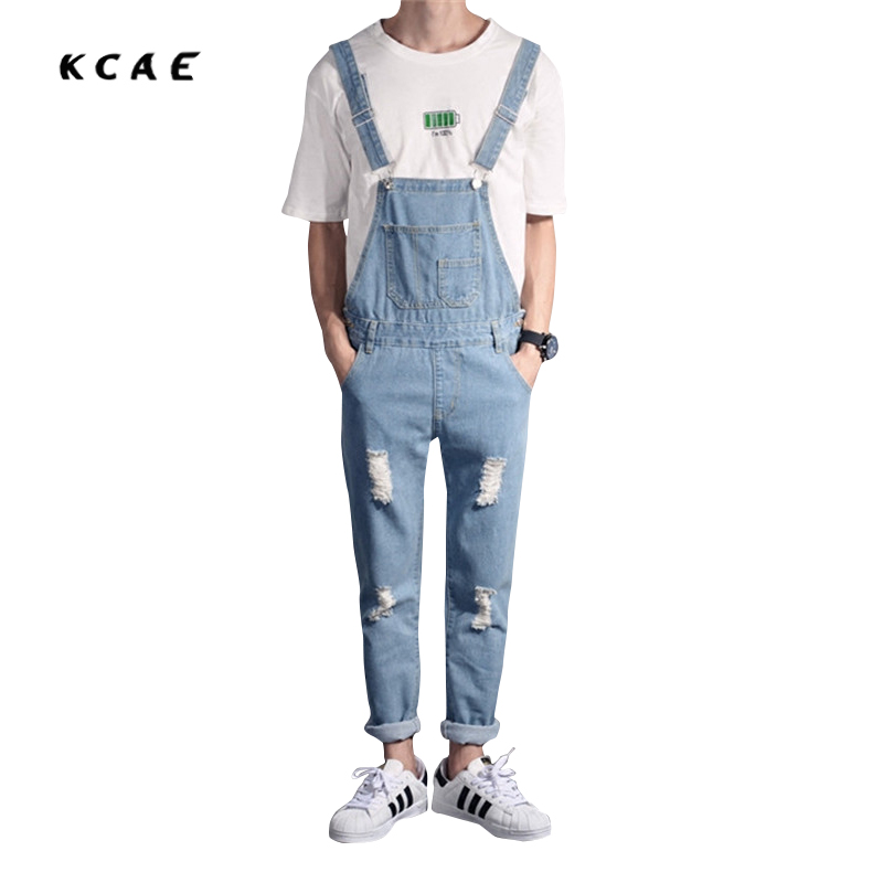 Men Distressed Denim Overalls Mens Denim With Suspenders New 2017 Hole Design Washed Male Bib Jeans men distressed denim overalls mens denim with suspenders new 2017 hole design washed male bib jeans