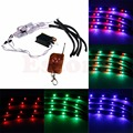 7 Color LED Strip Under Car Tube Underglow Underbody Glow System Neon Lights Kit Wide Angle LED strips