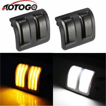 aotogo 2pcs Led Dynamic Side Marker Turn Signal Light Sequential Blinker smoke schwarz for BMW X3 F25 X5 E70 X6 E71 SB20