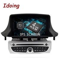 Idoing 7 1Din 4G + 32 г 8 ядерный автомобильный Радио gps Android 8,0 Multimidia плеер для Renault Megane 3 Fluence 2009 2015 gps навигация