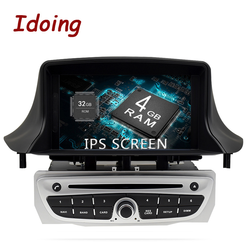 Idoing 7 1Din 4g + 32g 8 Core Autoradio GPS Android 8.0 Lecteur Multimidia Pour Renault megane 3 Fluence 2009-2015 GPS Navigation