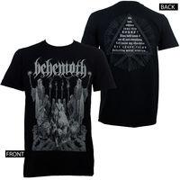OKOUFEN Authentic BEHEMOTH Corpse Candle Black Metal T Shirt S M L XL XXL NEW Men