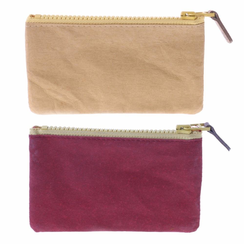 THINKTHENDO Men Mini Coin Change Purse Card Phone Holder Zipper Small Soft Women Wallets And Purses Unisex