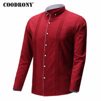 COODRONY Shirt Men 2018 Spring Summer New Casual Shirts Men S Clothing Big Size Cotton Striped