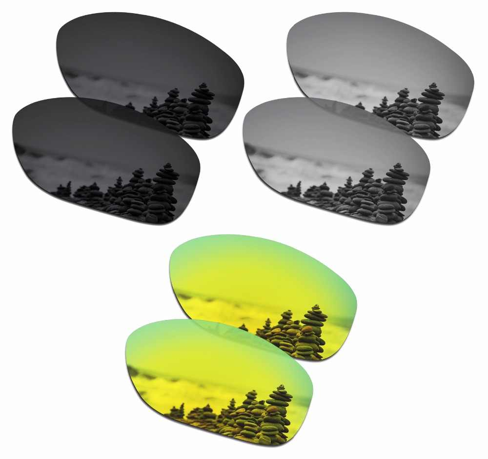 ca3d8a19fa SmartVLT 3 pairs Polarized Sunglasses Replacement Lenses for Oakley Pit  Bull Stealth Black and Silver Titanium