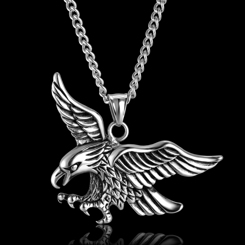 Vintage punk animal eagle pendants necklaces stainless steel pendant vintage punk animal eagle pendants necklaces stainless steel pendant animal necklace blacksilver color mens chain jewelry in pendant necklaces from jewelry mozeypictures Gallery