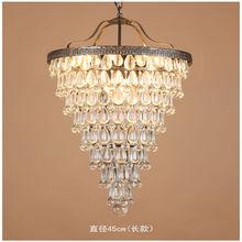 Vintage Retro E27 LED K9 Araña de Cristal Droplight Industrial Lámpara Colgante Fixture Comedor Dormitorio Decoración Colgante de Iluminación