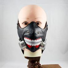 Black Leather Zipper Mask Halloween Tokyo Ghoul Cosplay Prop Kaneki Ken Mask Wig Horror Anime Cosplay Costumes Accessories все цены