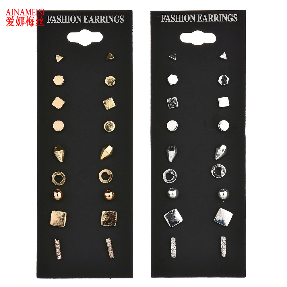 Hotselling Vintage Cute Stud Earring Sets Super Value 6 Pairs Set 9 Pairs  Set