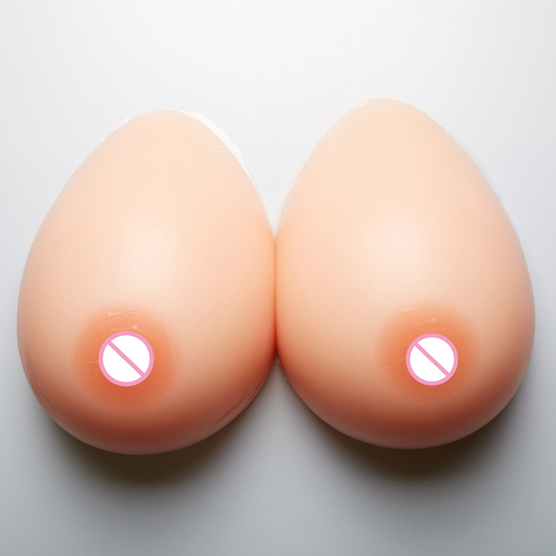 1200g/pair Silicone Breast Form 38D/40C Artificial false Breasts for realistic transvestite Huge Fake Bosom 6000g very huge false breasts