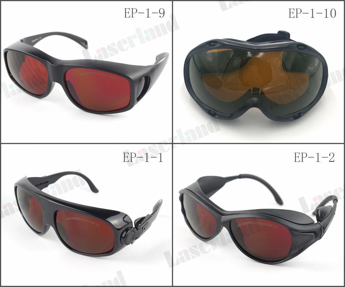 EP-1 190nm-540nm bleu vert 800nm-1700nm 808nm 810nm 850nm 980nm 1064nm IR ND: YAG lunettes de protection Laser CE OD5 +EP-1 190nm-540nm bleu vert 800nm-1700nm 808nm 810nm 850nm 980nm 1064nm IR ND: YAG lunettes de protection Laser CE OD5 +