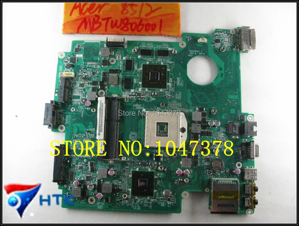 Wholesale For Acer Travelmate 8572 LAPTOP Motherboard HM55 NON-integrated DDR3 DA0ZR9MB8D0 MBTW806001 100% Work Perfect wholesale 6050a2341701 laptop motherboard for acer travelmate 8732hm55 non integrated mbbap30702 100