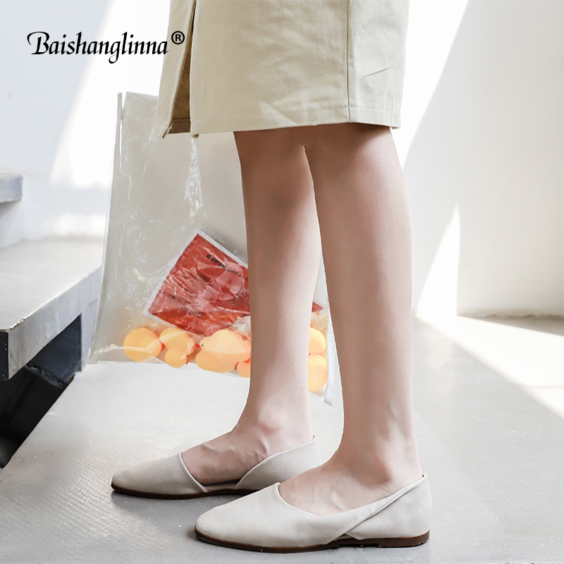 New women flat shoes Handmade 100% Genuine Leather Women Shoes Simple style soft Cowhide Shoes 2018 summer Ladies Flat Shoes original handmade autumn women genuine leather shoes cowhide loafers real skin shoes folk style ladies flat shoes for mom sapato