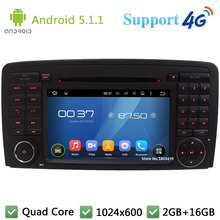 Quad Core 1024*600 Android 5.1.1 Car DVD Player Radio Stereo 4G DAB+ GPS Map For Mercedes-Benz R Class W251 R280 R300 R320 R350