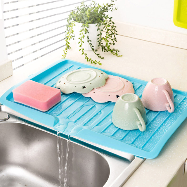 kitchen draining board best off white color for cabinets sae fortion dishes sink drain pallets storage rack dish with outlet vegetable fruit shelf drying