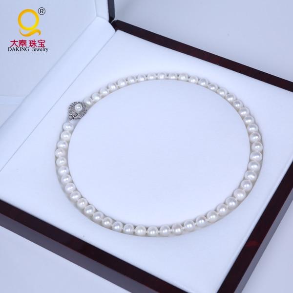 Здесь продается  Daking 7.5-8.5MM AAA Grade Pearl Necklace Natural White Freshwater Pearl Necklace 18  Ювелирные изделия и часы