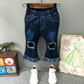 High Quality 2016 New Brand Boys Jeans Fashion Baby Boy Tipped Jeans For Kids Children Tassel Horn Jeans Kids Deni Pants 2-7Y