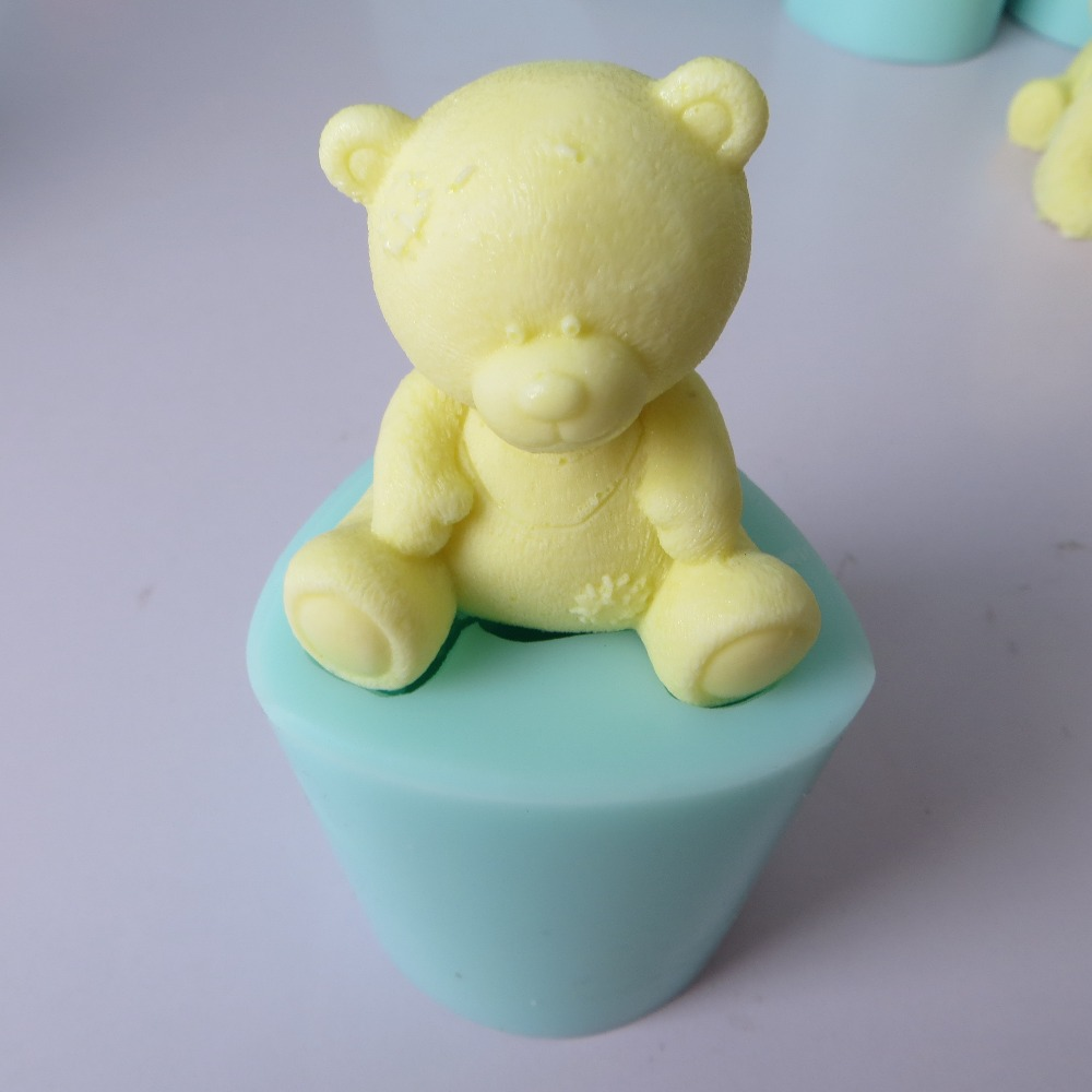 PRZY silicone mold fondant mould Cute 3d Teddy bear chocolate mousse cake molds candle aroma stone silicone mold resin clay mol