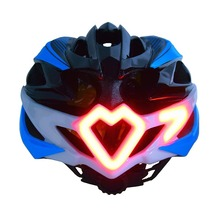 Cycling Motorcycle Helmet Integrally-molded Road Bicycle Helmet With LED Warning Light+Helmet with LED Turn light Remote Control