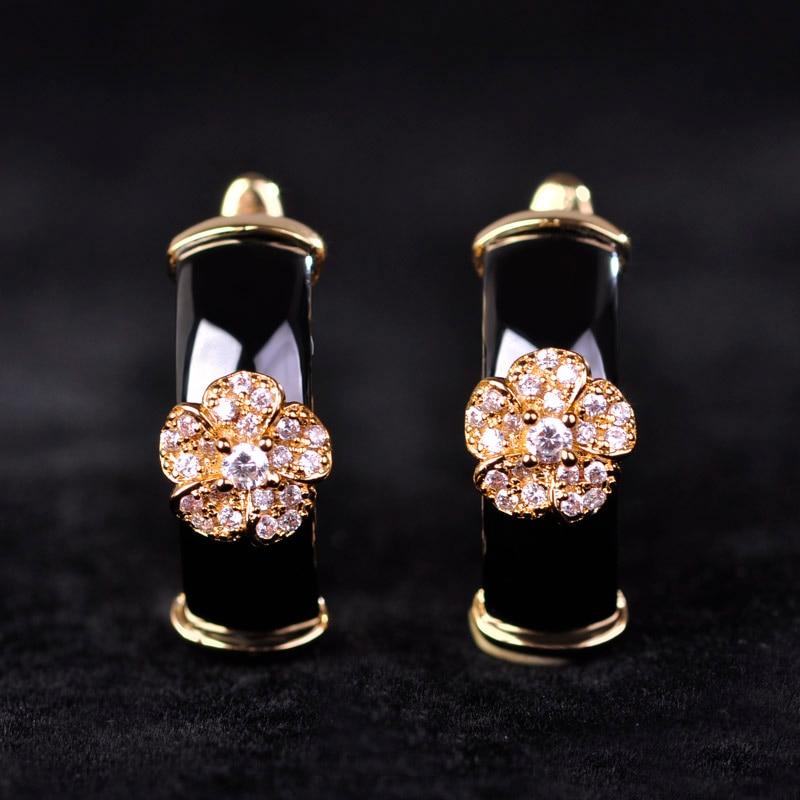 Չինական ոճով սև կլոր ցիրկոնով - Նորաձև զարդեր - Լուսանկար 4