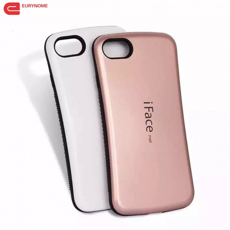 buy online 9e4c9 ab6e6 US $4.27 8% OFF|Case For IPhone 7 Plus Cover For Iphone 7 8 Shockproof  Iface Mall Double Color Plastic Anti skid Cover For Iphone 8 plus Case-in  ...