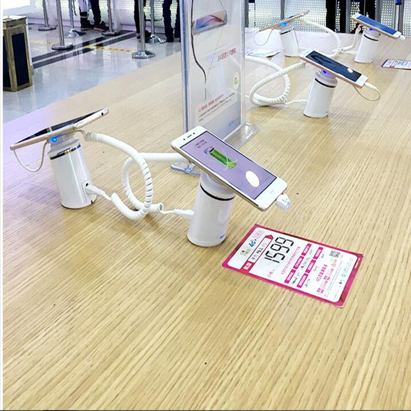 cell phone security anti-theft display stand with alarm and charging function for mobile phone retail store exhibition security alarm display cell phone display stand for exhibition