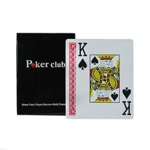 Texas Holdem Plastik bermain kartu permainan kartu poker Waterproof dan membosankan memoles permainan papan klub poker, kualitas tinggi kartu kata besar